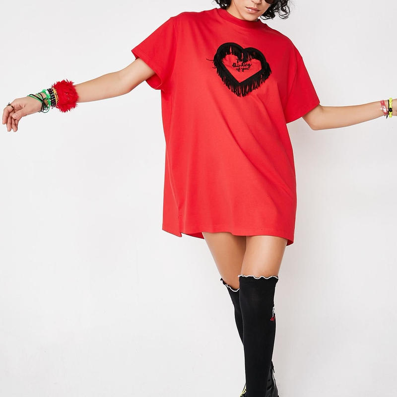 LAZY OAF  Thinking of You cotton-jersey T-shirt