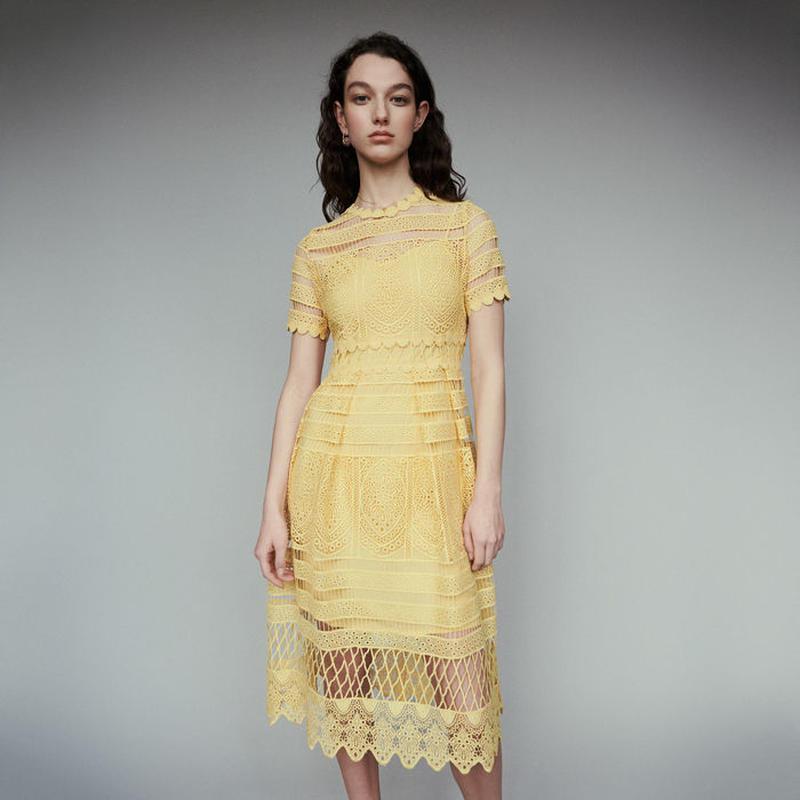 Maje マージュ LONG DRESS IN GUIPUREワンピース 定価$445