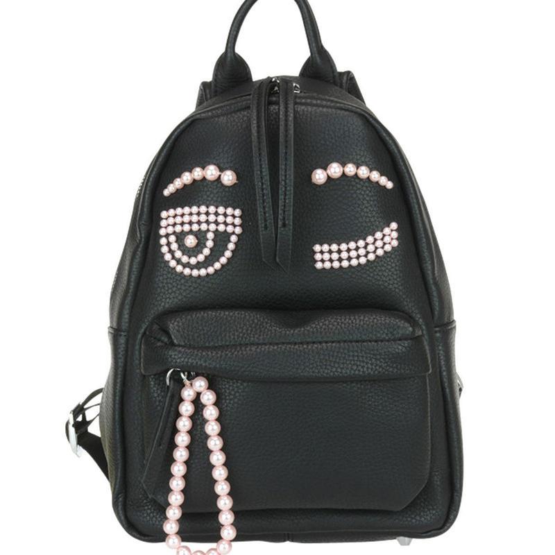 キアラフェラーニ Flirting Eye Faux Leather バッグパック 定価$653