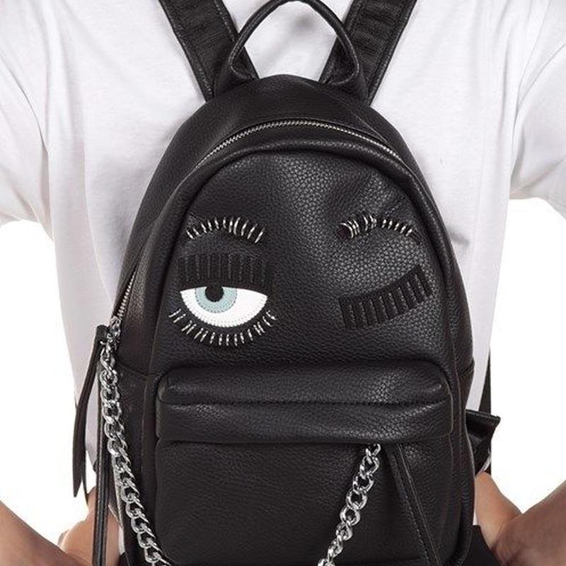 CHIARA FERRAGNI キアラフェラーニ Flirting Piercing faux-leather backpack 定価$416