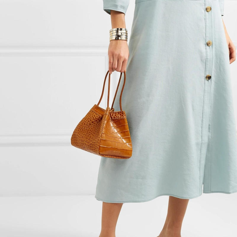 Rejina Pyo  レジーナピョウ Rita croc-effect leather bucket bag バッグ 定価$575
