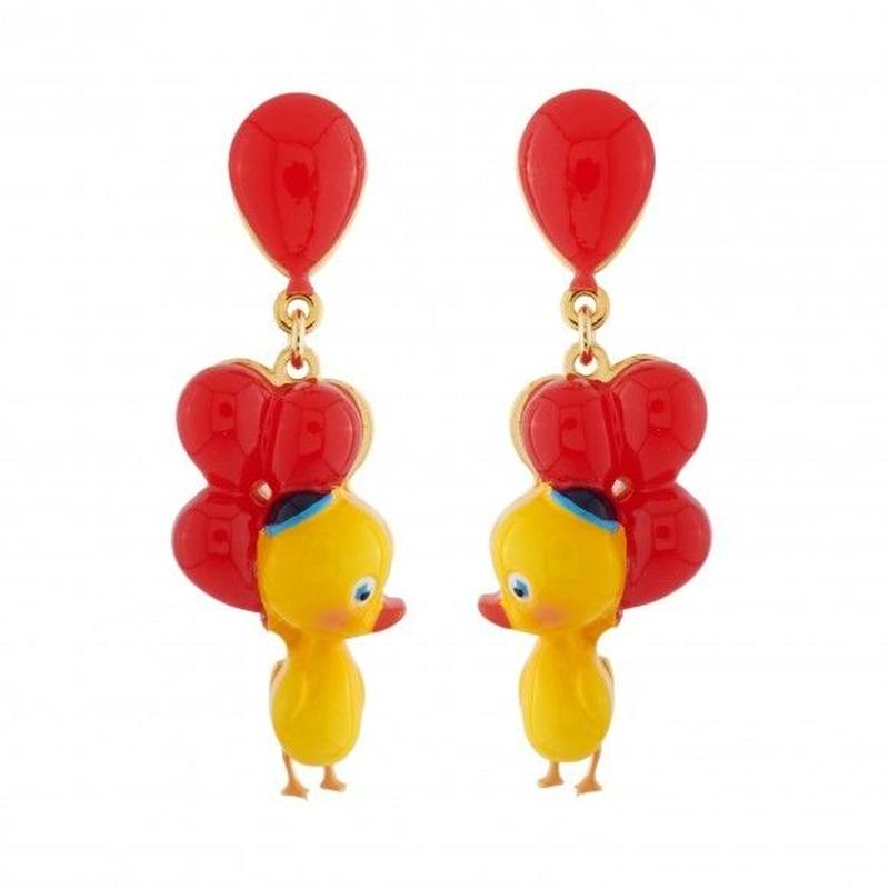 N2 by Les Nereides  small duck and balloons ピアス