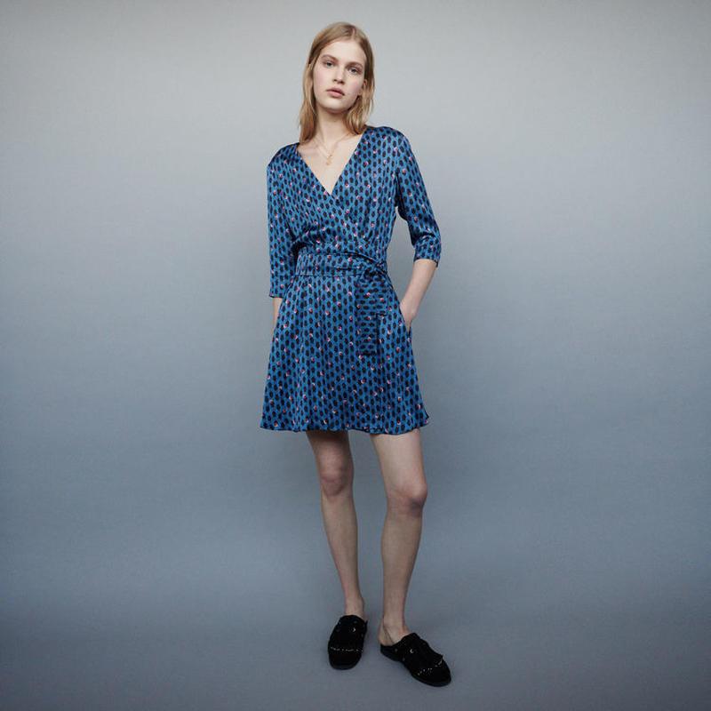 Maje マージュ SHORT DRESS WITH MONOGRAM PRINTワンピース 定価$295