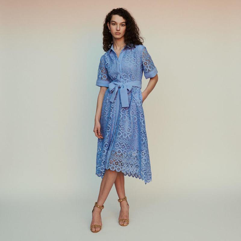 Maje マージュ Midi dress in daisy guipureワンピース 定価$445