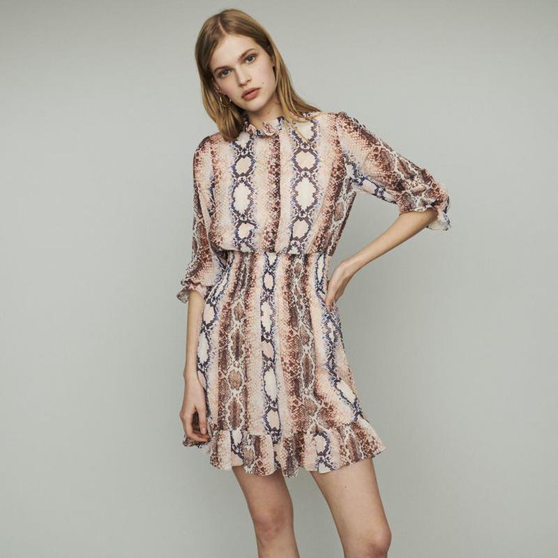 Maje マージュ SHORT DRESS WITH PYTHON PRINTワンピース 定価$340