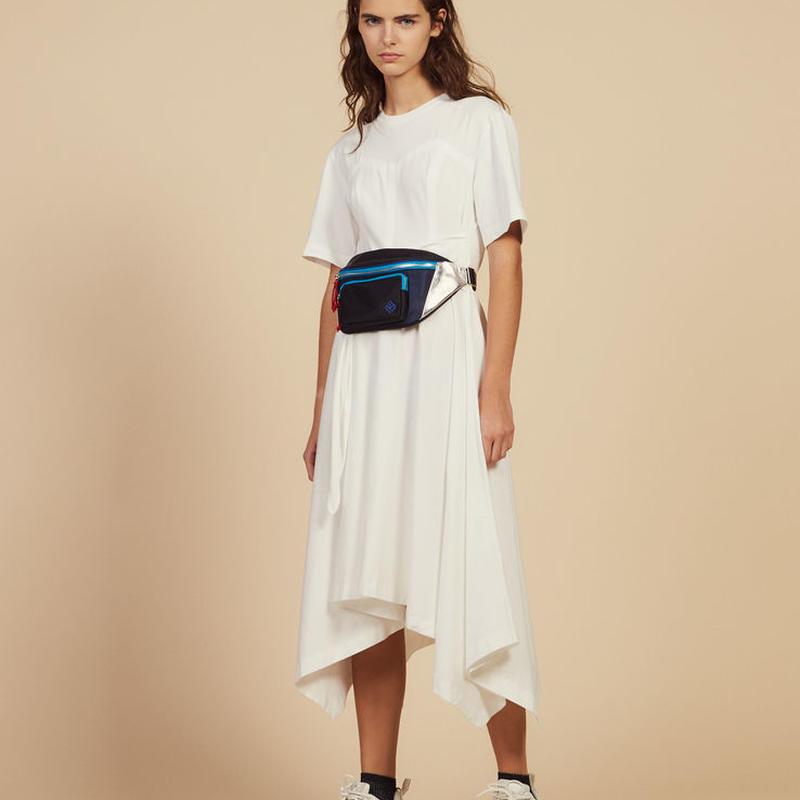 sandro サンドロ   LONG ASYMMETRICAL JERSEY DRESS ワンピース $295