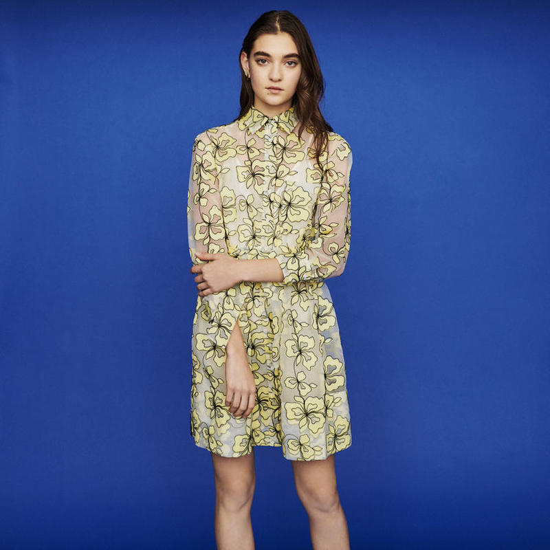 Maje マージュ ORGANZA DRESS WITH FLOWERSワンピース 定価$445