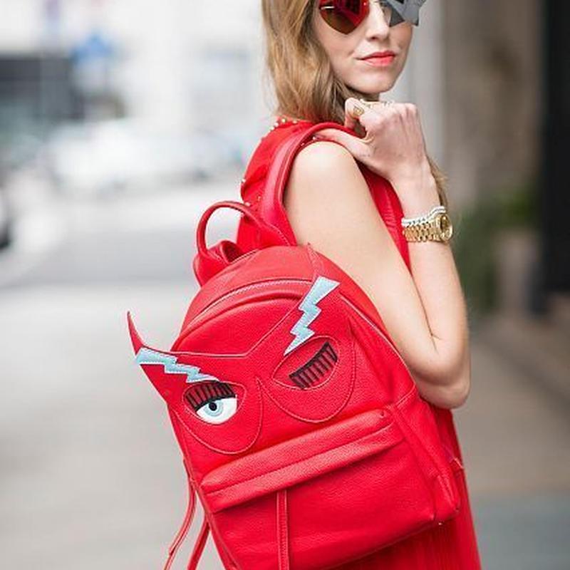 CHIARA FERRAGNI キアラフェラーニ Flirting Mask Faux Leather Backpack 定価$362