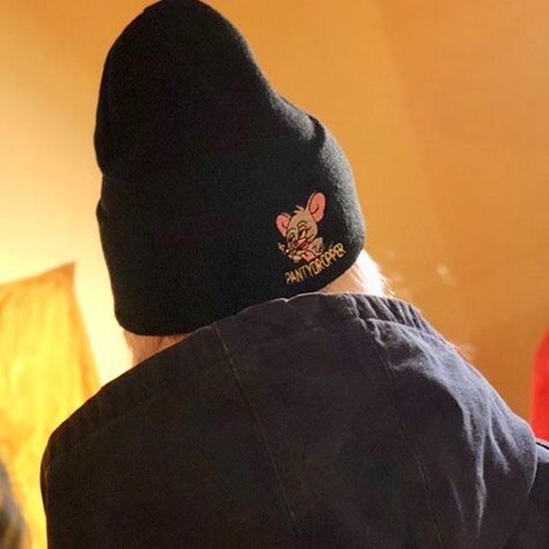KNIT  CAP【High Roller】BK×GY