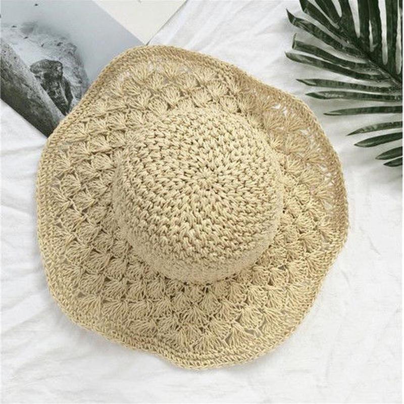 ナチュラル 折りたたみ できる 麦わら帽子 ストローハット 紫外線対策