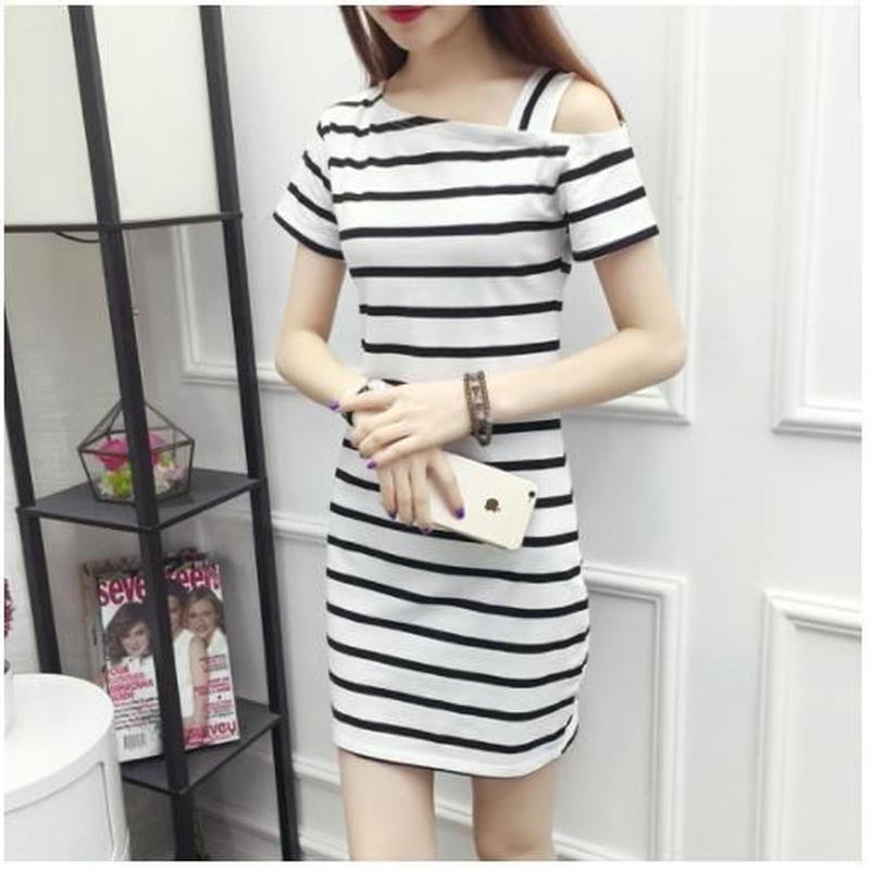 Border Mini Dress