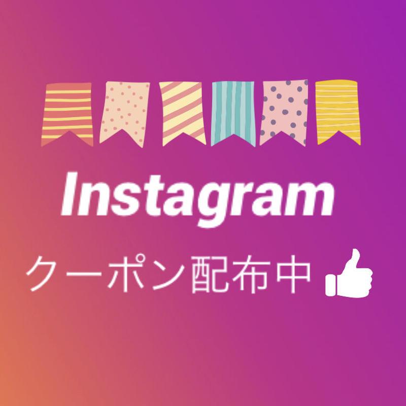 お得な<instagram>割引クーポン配布中♪