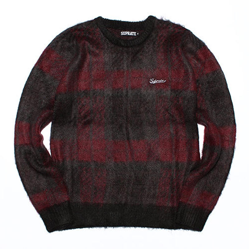 Jacquard check sweater