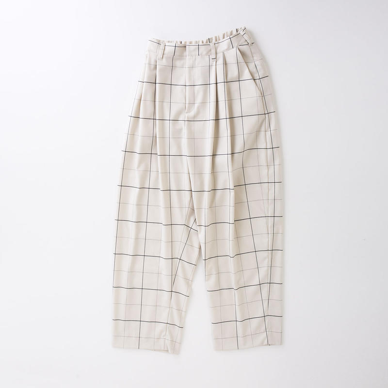 PA8SS-PT05 WINDOWPANE TUCK PANTS