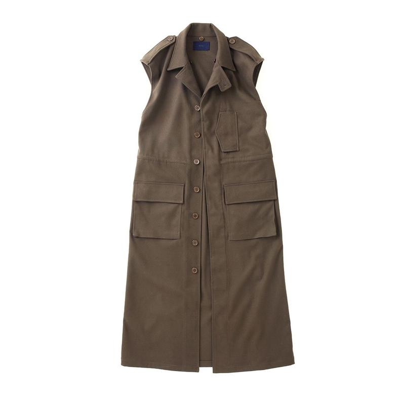 PA7AW-CT02 FLANNEL MILITARY LONG VEST