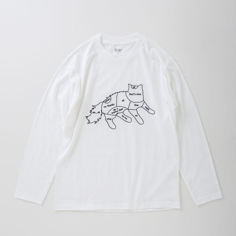 CA8AW-JE62 CAT CHART LONG SLEEVE TEE