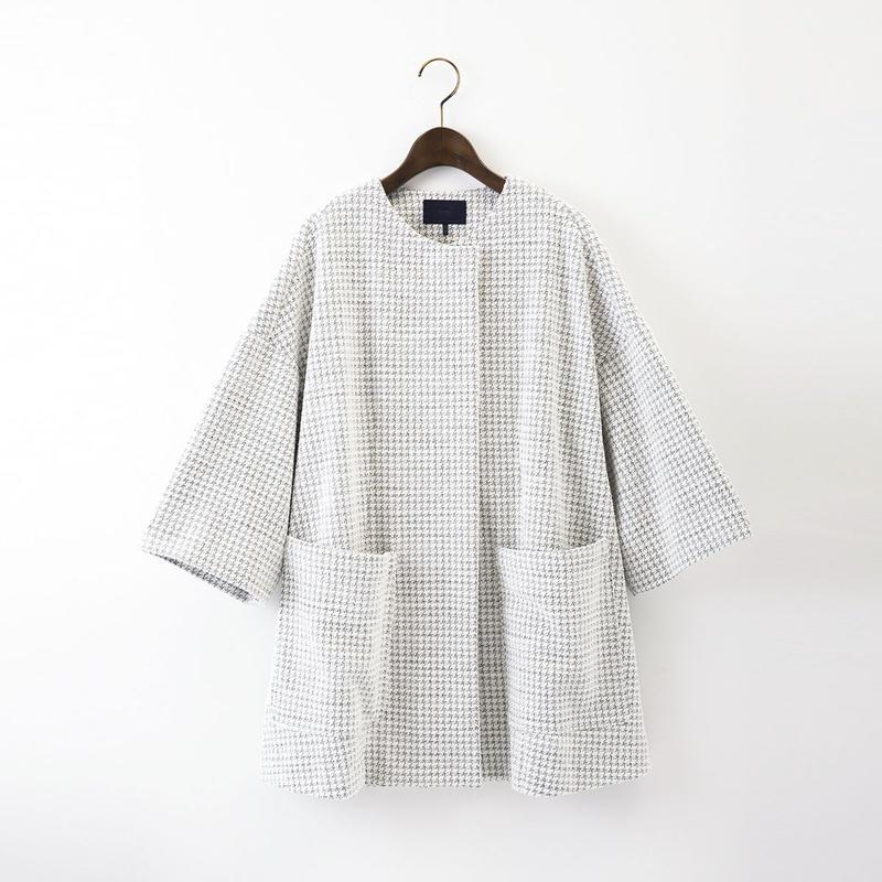 【SALE】1510-08-103 Tweed Wide Coat