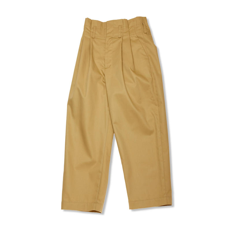 PA9SS-PT03 TUCK HIGH-WAIST PANTS