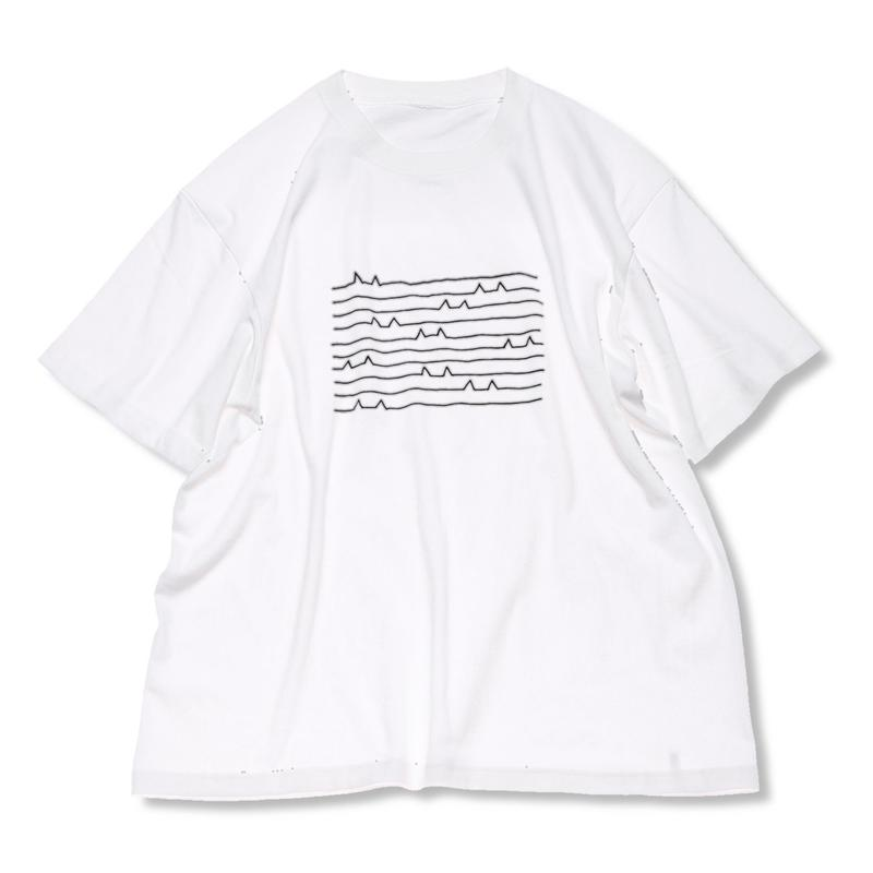 CA9SS-JE91 CAT WAVE TEE