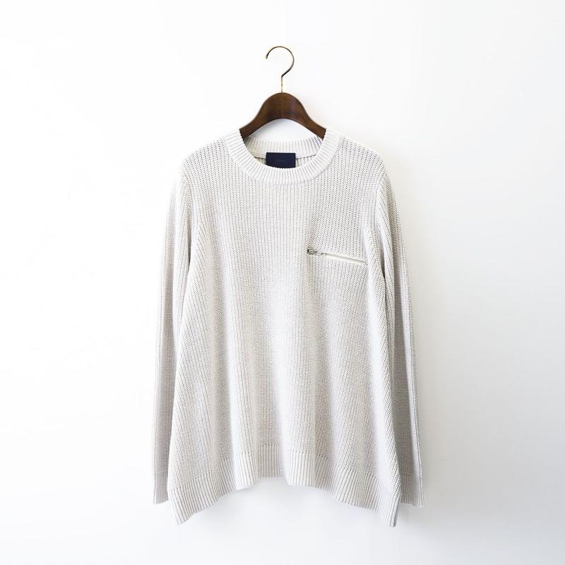【SALE】1510-07-105 Half Cardigan Stitch A-line Sweater