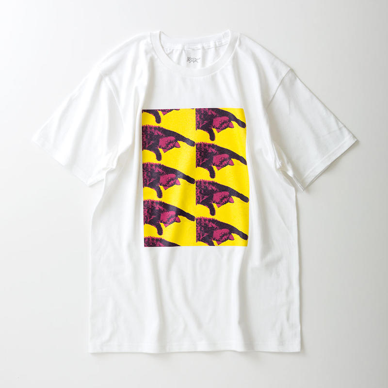 CA7AW-JE22A KATE TEE - ROLL OVER 7(YELLOW&PINK)