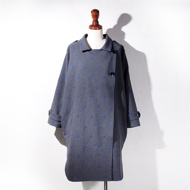 【SALE】1410-08-101 Embroidary Wide Coat