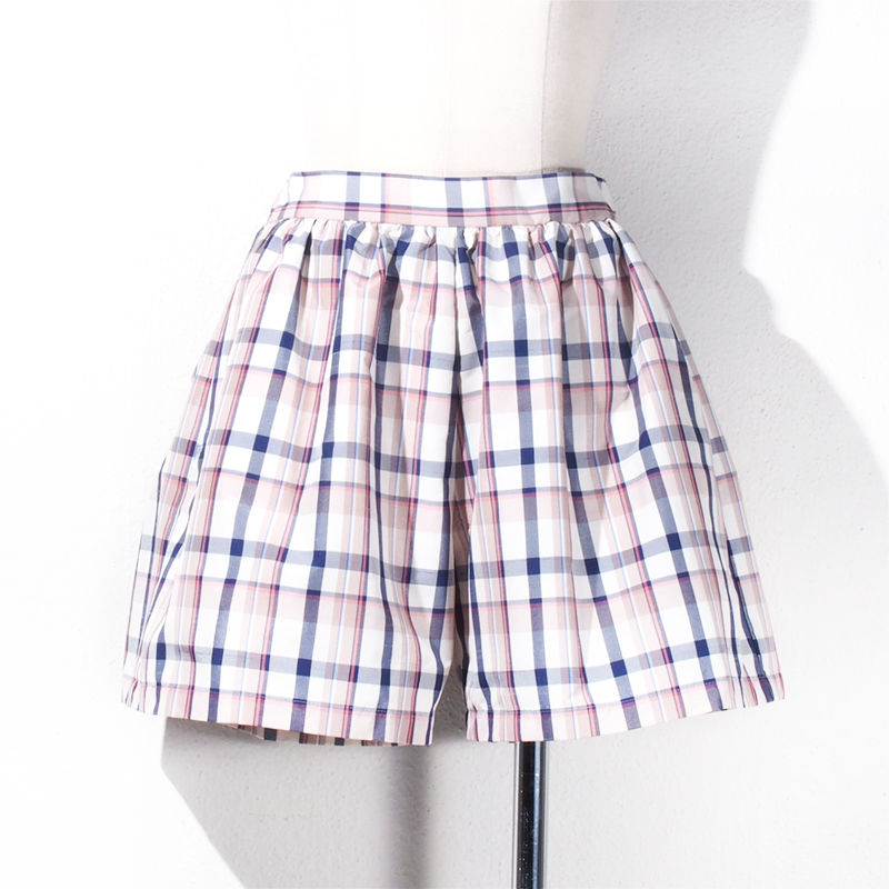 【SALE】1410-04-104 Check Taffeta Short Pants
