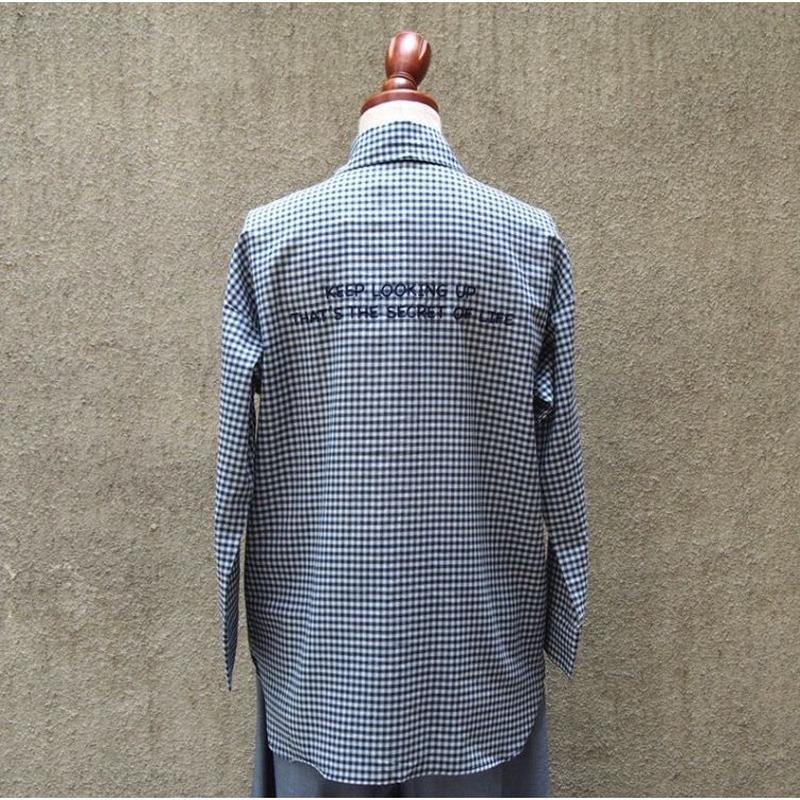 1401-01-106 Check 'KEEP LOOKING UP' Shirt