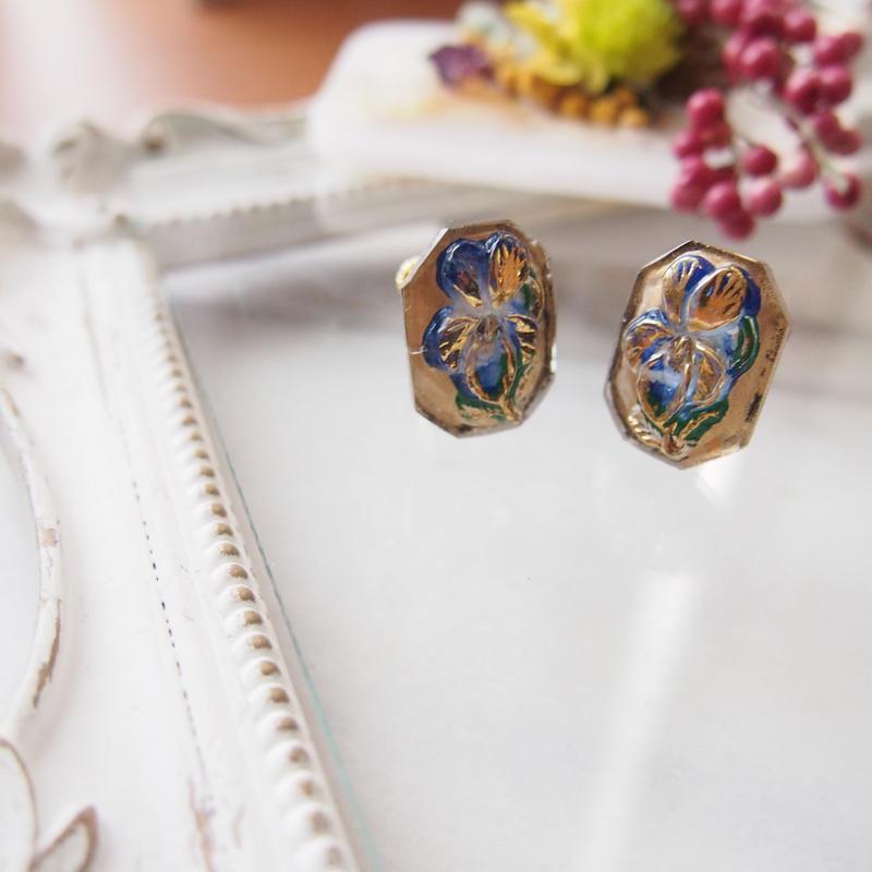 siberian iris earrings
