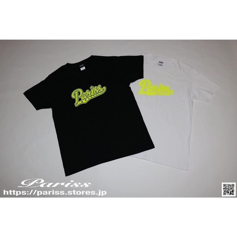 【新作】ベースボールロゴTシャツ【ブラック×蛍光イエロー・ホワイト×蛍光イエロー】