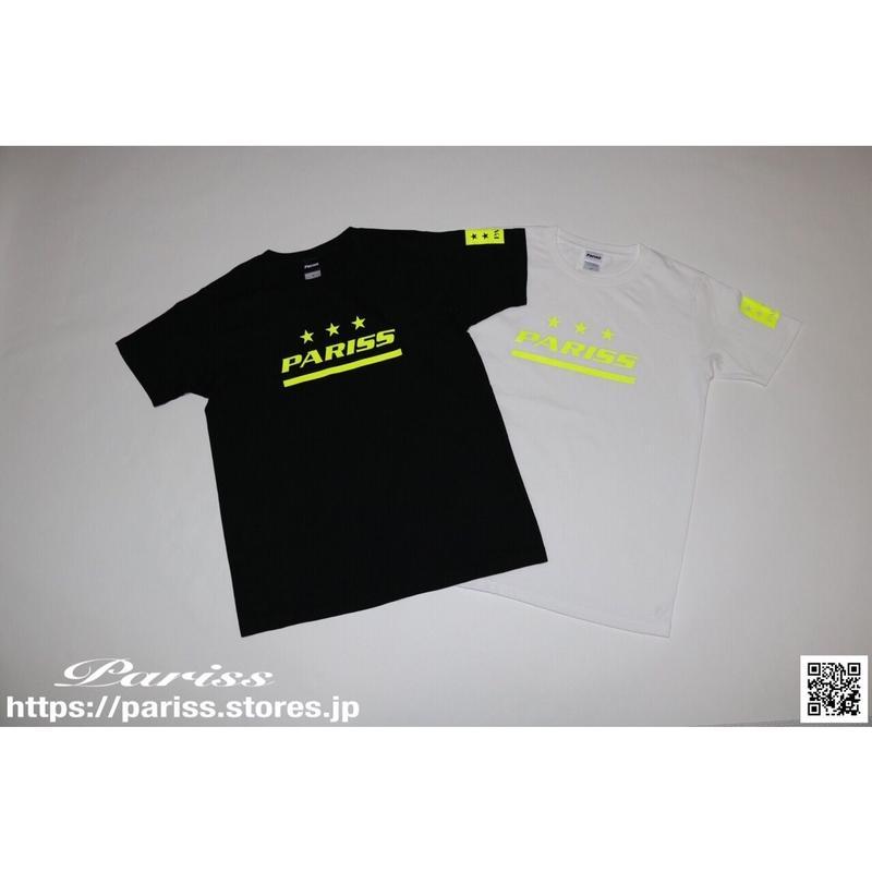 スポーティーロゴTシャツ【ブラック×蛍光イエロー・ホワイト×蛍光イエロー】