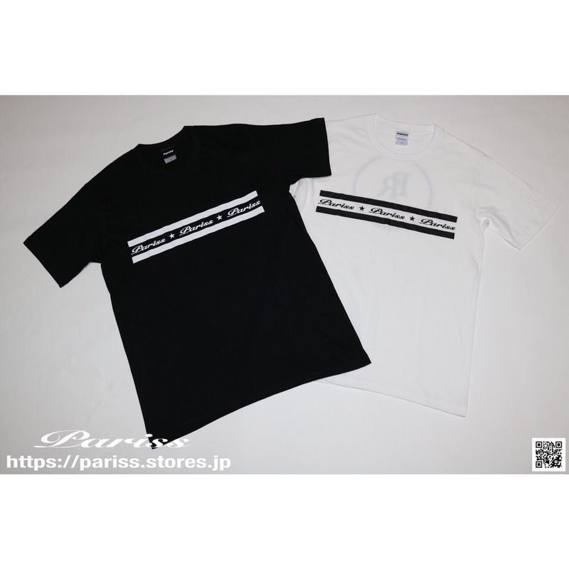 【新作】ラインロゴTシャツ【ブラック・ホワイト】