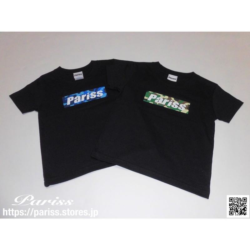 【キッズ】迷彩BoxロゴTシャツ【ブラック×ブルー迷彩・グリーン迷彩】