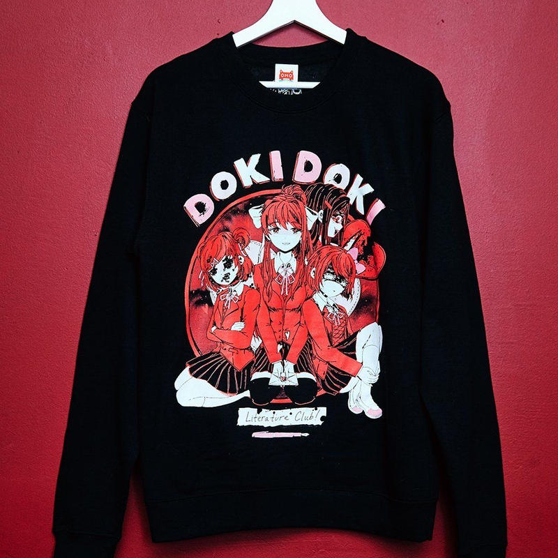 【OMOCAT×DDLC】DOKI DOKI Black Sweater