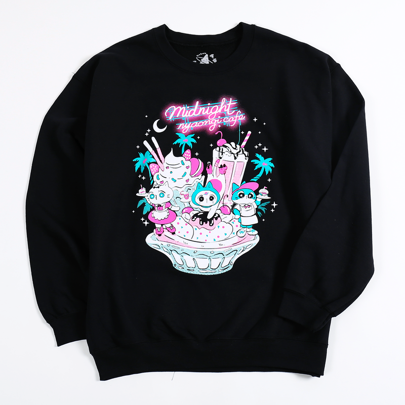 【宇宙サマー】MIDNIGHT NYAONGI CAFE SWEATER