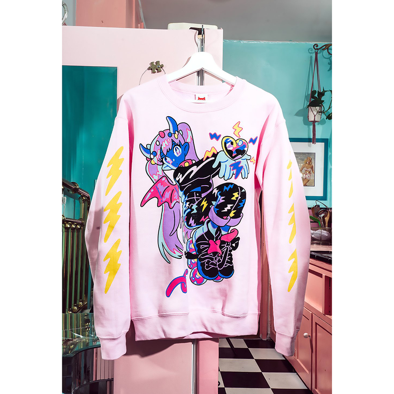 【OMOCAT×PEPPERONCCINI】ELECTRIC KISS Sweater