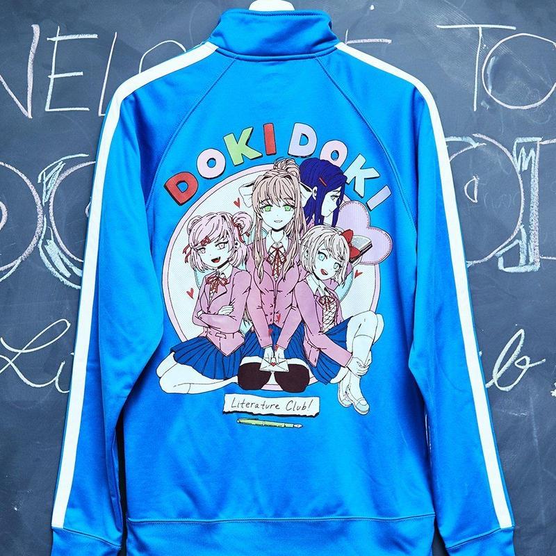 【OMOCAT×DDLC】DOKI DOKI Blue Track Jacket