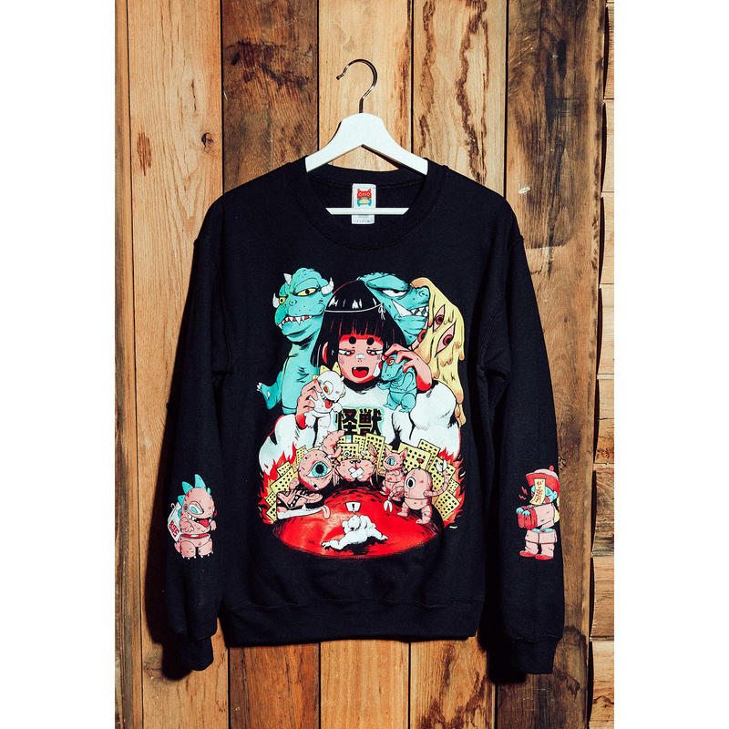 【OMOCAT×CRISALYS】SOFUBI NIGHTMARE Sweater