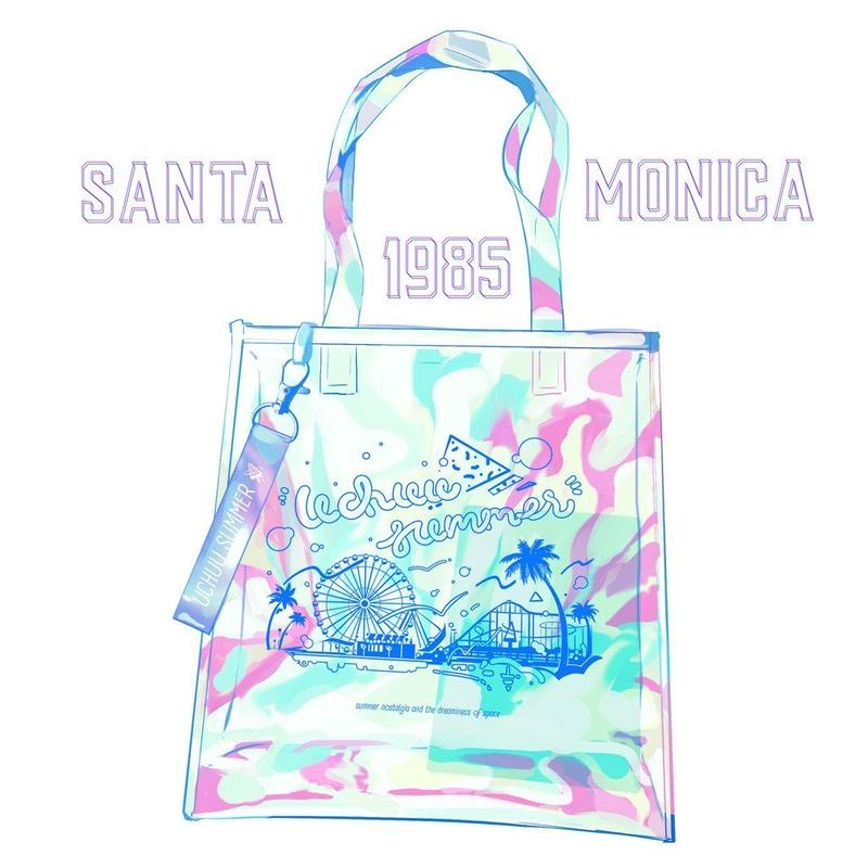 【宇宙サマー】SANTA MONICA 1985 CLEAR HOLOGRAPHIC TOTEBAG
