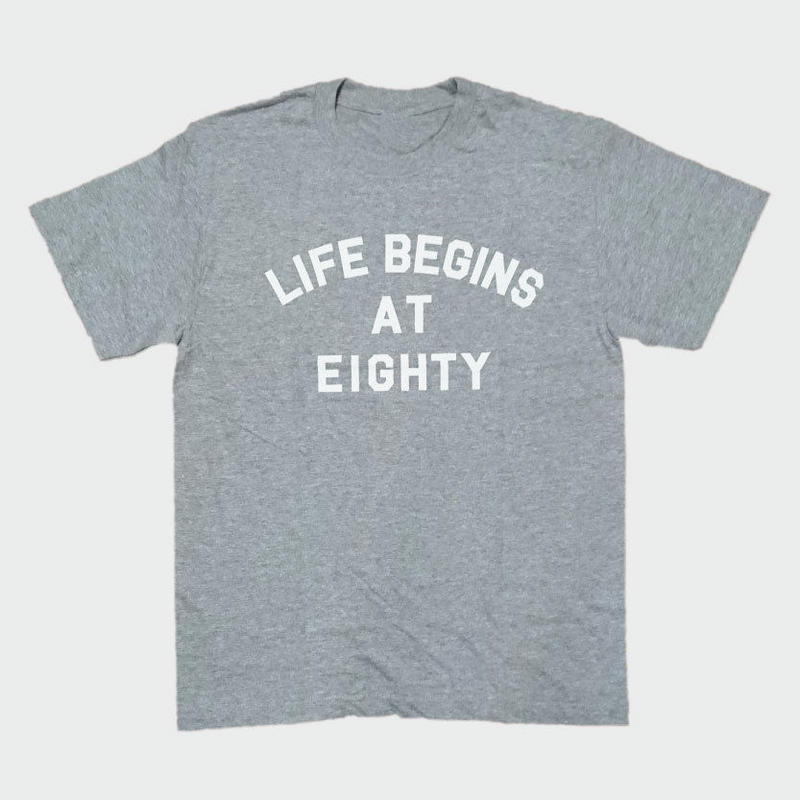 80KIDZ - Life Begins at Eighty Tee (heather gray/white)