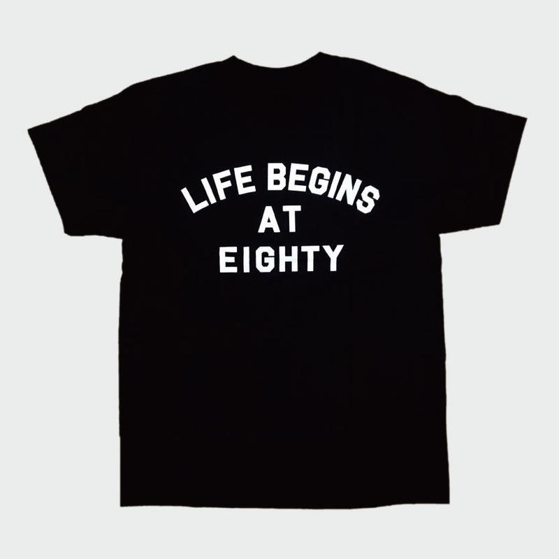 80KIDZ - Life Begins at Eighty Tee (black/white)