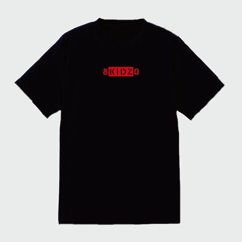 80KIDZ - ロゴタイプ Tee (black/red)