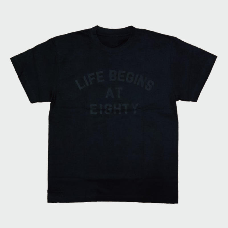 80KIDZ - Life Begins at Eighty Tee (Charcoal/black)