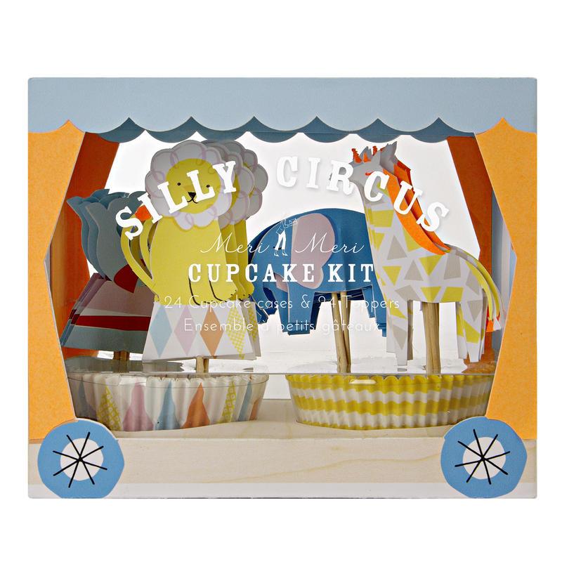 【MeriMeri】カップケーキキット/SILLY CIRCUS [MM0206-45-1640]