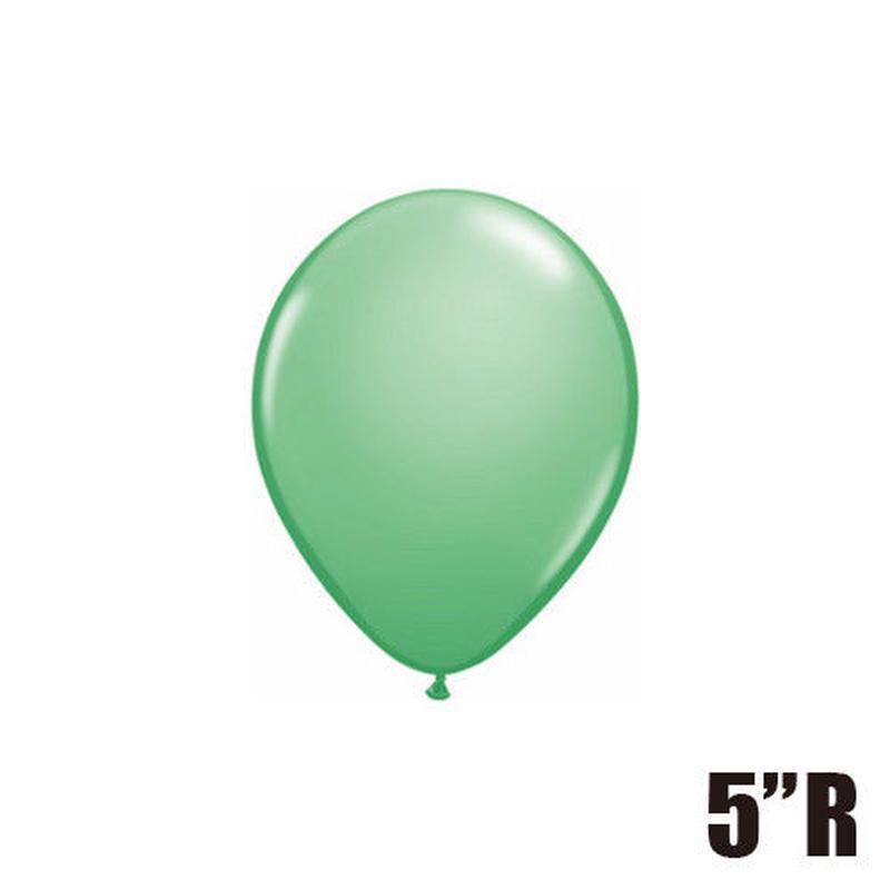 【ゴムバルーン】5インチ ウインターグリーン/5個セット 約13cm ラウンド 無地 [BG0101-43608-P]
