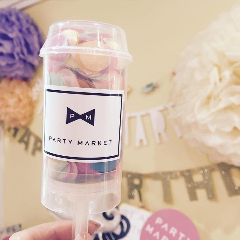 【Party market】プッシュアップクラッカーケース/クリア 5本入り[PM5101-01-S]