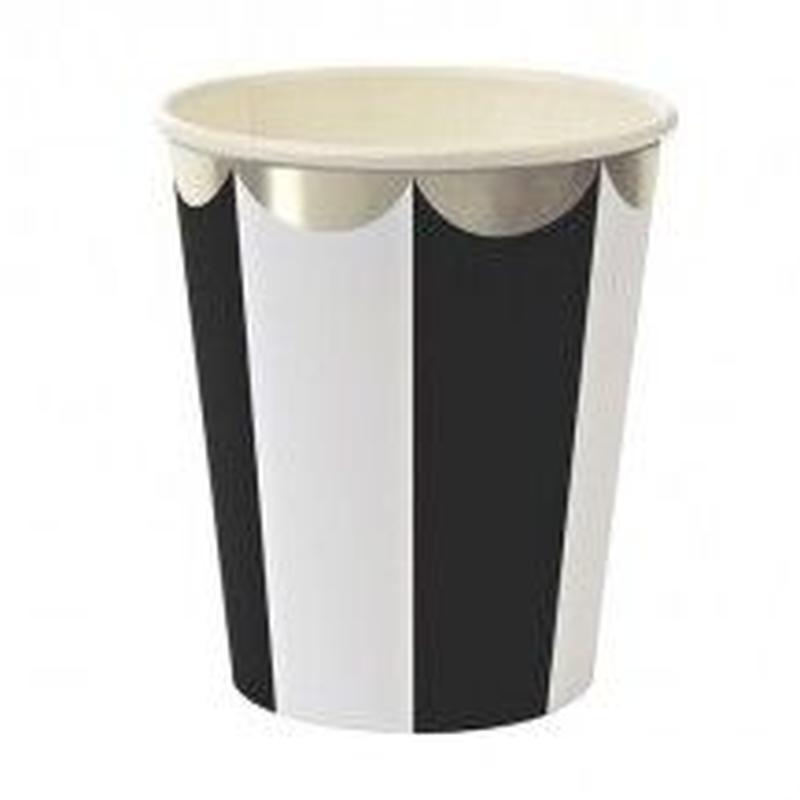 【MeriMeri】ペーパーカップ/TOOT SWEET!/ブラック/8個入り [MM0202-45-1322]