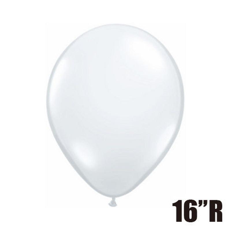 【ゴムバルーン】16インチ ダイアモンドクリア/5個セット約42cm ラウンド 無地[BG0104-43861-P]