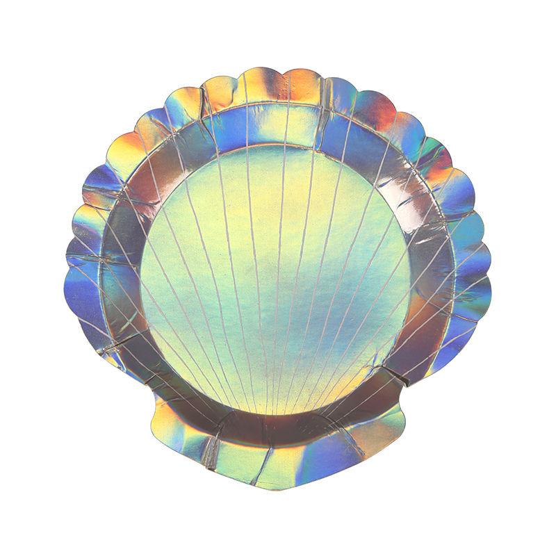 【MeriMeri】ペーパープレート/貝殻モチーフ/8枚入り [MM0203-45-2731]