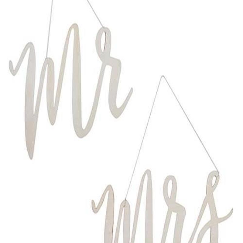 【Ginger Ray 】ウッデンサインズ Mr&Mrs チェアサインズ[ZZ0419-BB-234]
